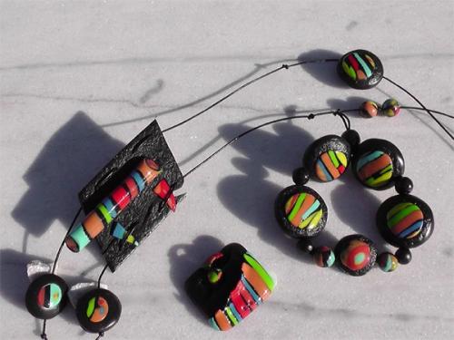 Parure Brésil sautoir bague bracelet
