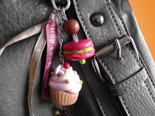 Bijoux de sac Cup Cake  ou porte-clé