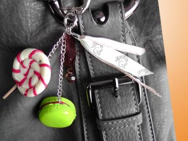 Macarons et Sucre d'Orge - bijoux de sac