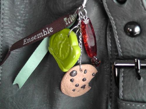 Bijoux de sac  Porte clés Cookies