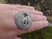 Bague Galet design grise